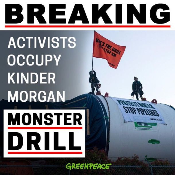 Greenpeace halt monster drill
